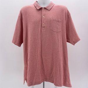 Greg Norman Mercerized Cotton Pink Polo Shirt